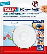 Tesa TE58029-00021-01 Gancho a techo blanco + 2 tiras grandes, standaard