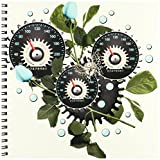 3dRose db_102671_1 Cool Steampunk Barometer and Aqua Roses-Drawing Book, 8 by 8-Inch