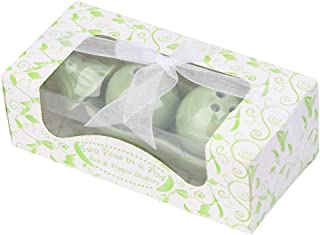 MEIYIN Seasoning Can Two Peas in Pod Ceramic Salt Pepper Shaker Wedding Party Gifts Set