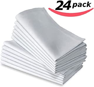 Bella Kline Deluxe Bulk Cloth White Dinner Napkins, 24pk