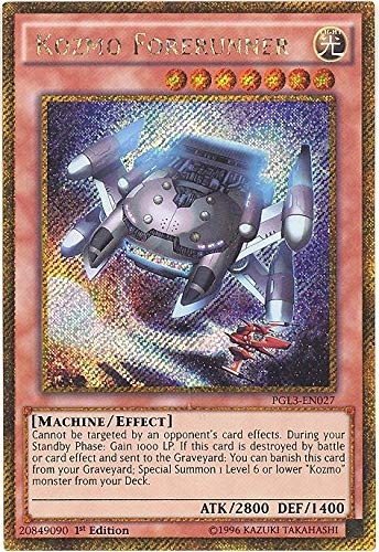 Yu-Gi-Oh! - Kozmo Forerunner (PGL3-EN027) - Premium Gold: Infinite Gold - 1st Edition - Gold Secret Rare