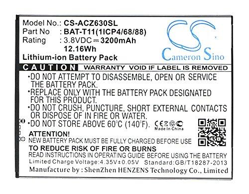 CS 3200mAh Li-ion Akku Passend für Acer BAT-T11,BAT-T11(1ICP4/68/88),KT.0010S.018, ersetzt Acer Liquid Z630,Liquid Z630S,T04