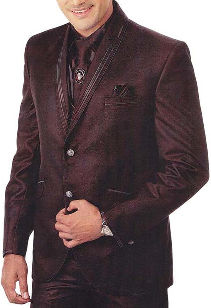 INMONARCH Mens Brown 7 Pc Tuxedo Suit Double Lapel TX911