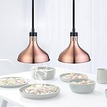 sahadsbv Lampe chauffante Commerciale, Lampe de Chauffage des Aliments Buffet Restaurant, Lampe Chauffe-Plats 75-170cm Lon...