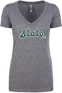 Nudge Printing Michigan State University Spartans Women's V-Neck T-Shirt