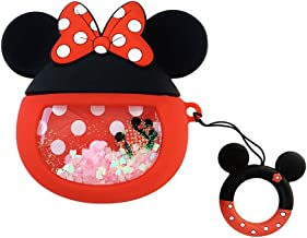 Airpods Pro Case, AKXOMY Silicone Cute 3D Cartoon Minnie Airpods Pro Case Cover,Kawaii Fun Cool Design Skin,Fashion Animal Designer Cases for Airpods 3 Girls Teens Kids Women (Minnie)