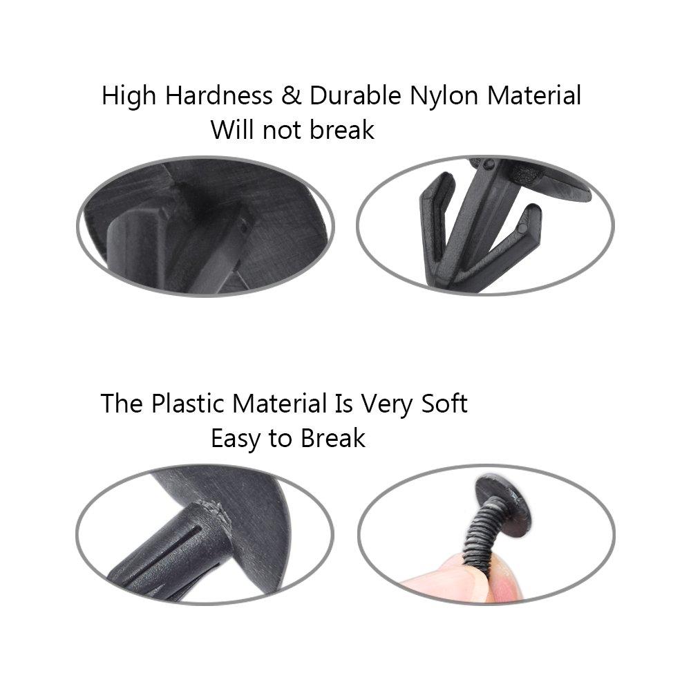 ClipsOne 25 PCS Heat Shield Screw Grommet Retainer Fastener Natural Nylon for BMW 07147201307,51757271848 Doitnow