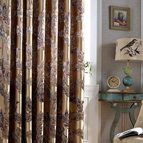 Lusso tende oscuranti per salotto piuma di pavone tende jacquard tende per camera da letto finestra ombreggiatura Ready panels-1pc, 1pc(150x270cm)