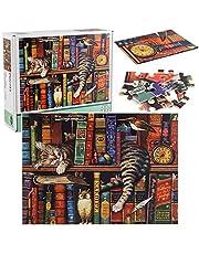 OUME Puzzle 1000 Pièces Adultes, Puzzle Classique Puzzle Adulte et Enfant - Chats de Charles Wysocki (70x50cm)