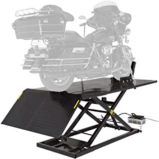 Black Widow Extra Wide Air/Hydraulic Motorcycle Lift - 1,500 lbs. Capacity