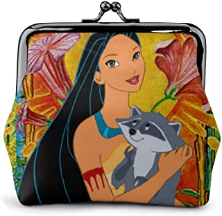 Coin Purse Pocahontas And Meeko Coin Purse Wallet Purses Credit Cards Pouch Kiss Lock Exquisite Buckle Make Up Cellphone Women Leather Cash Coin Purses Wallets