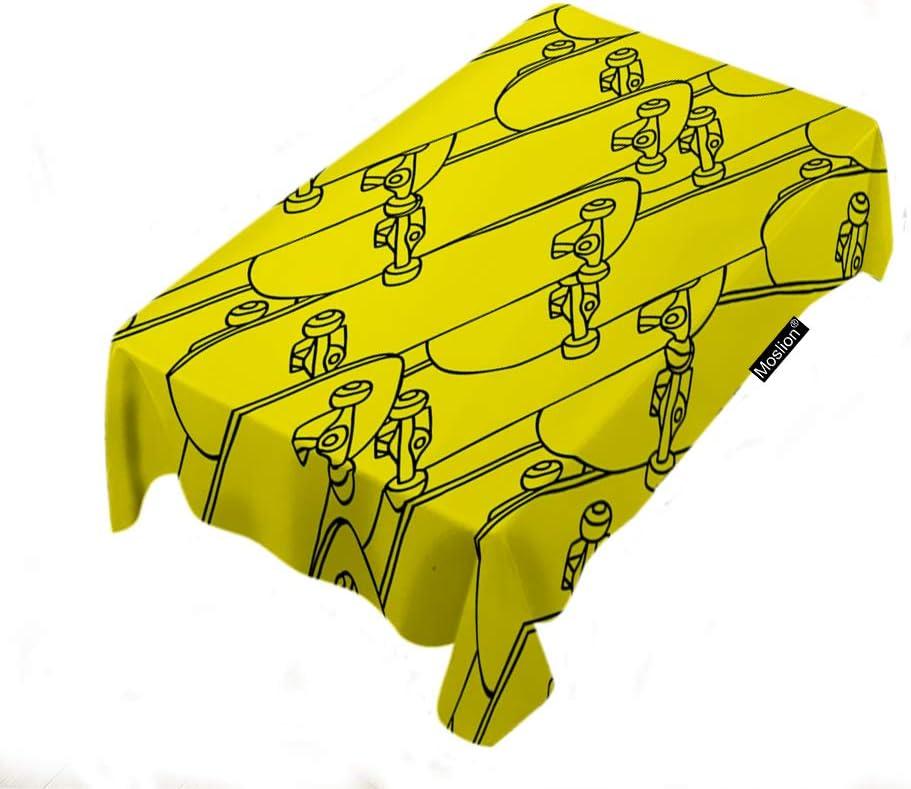 Moslion Skateboard 売り出し 大人気 Tablecloth 60x104 Inch Style Dra Hand Outline