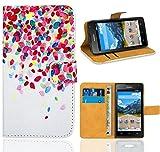 Huawei Ascend Y530 Handy Tasche, FoneExpert Wallet Hülle Flip Cover Hüllen Etui Ledertasche Lederhülle Premium Schutzhülle für Huawei Ascend Y530