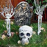 ALXFFBN Estacas realistas de esqueleto de cráneo, rompeolas...