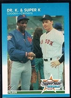 Baseball MLB 1987 Fleer #640 Roger Clemens/Dwight Gooden Dr. K and Super K