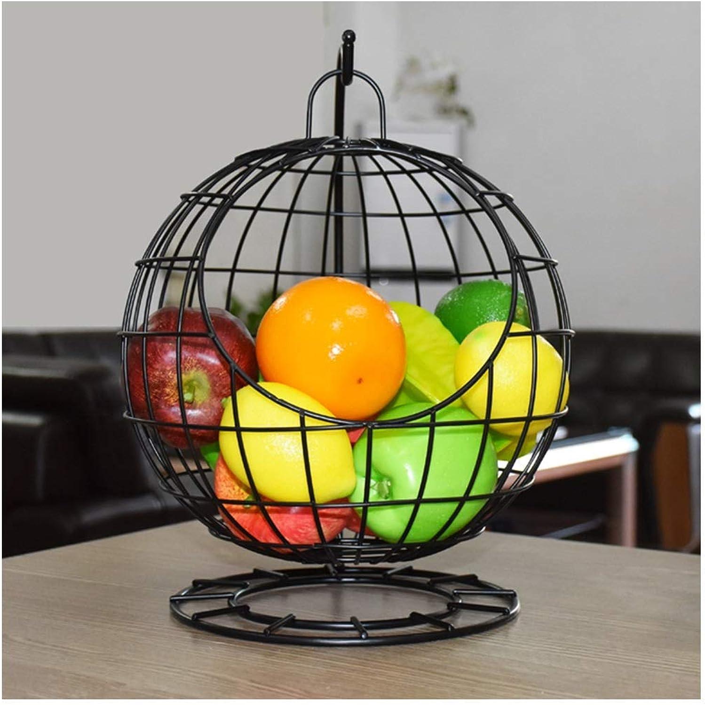 SCJ Hamac à Fruits pivotant, Support à Support de RangeHommest en Rack pour Panier de légumes, Bol (Couleur  Noir)