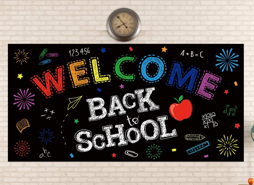 Back to School Banner Decorations - First Day of School Classroo