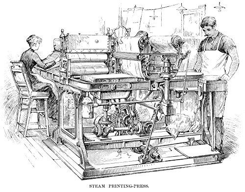 Bank Note Printing Press Nsteam Printing-Press At The Bureau Of Engraving And Printing Washington DC Line Engraving 1890 Poster Print by (24 x 36) Bureau Engraving Washington Dc