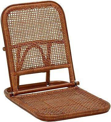 和風 アジアン どちらでも使える 折り畳み座椅子 ラタン製 BR