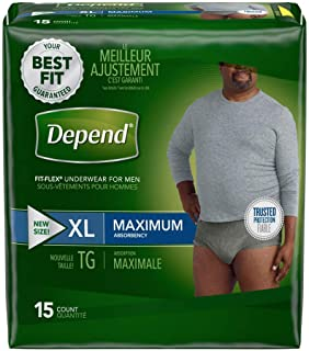 Extra Large Maximum Absorbency Depends Fit Flex Underwear