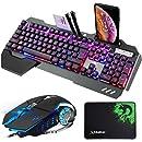 Gaming Teclado y Ratón Set MFTEK 3 colores luminoso QWERTY US ...