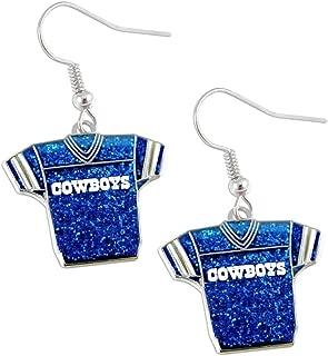 NFL Glitter Jersey Earrings