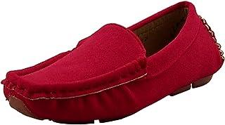 کفش DADAWEN دخترانه Suede Slide-Loafers Oxford کفش آکسفورد
