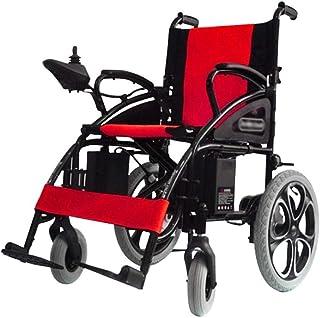 Sillas de ruedas eléctricas para adultos Sillas de ruedas eléctrica for adultos, super silla de ruedas ligera eléctrica plegable de interior / exterior Silla de ruedas eléctrica manual portátil Para l