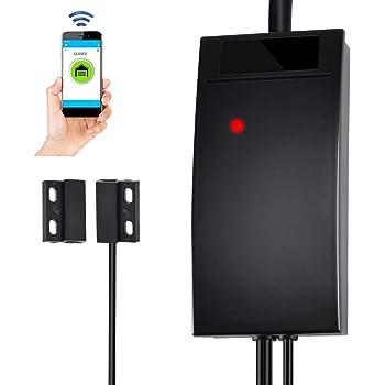 WiFi Smart Garage Door Opener Controller Compatible with Alexa Google Home and IFTTT, WiFi Gate Opener Controller Smartphone Smart Life APP Remote Control No Hub Needed