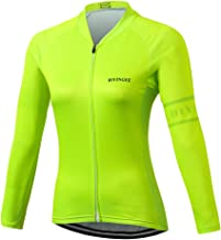 BIYINGEE Women's Cycling Jersey Long Sleeve with Reflective Stripe