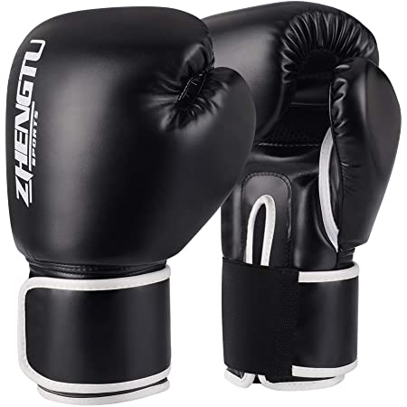ZTTY ボクシング グローブ PU ラテックスコットン 通気性 テコンドー 格闘技 空手用手袋 スパーリンググローブ 5色
