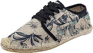 CHENYANG Chaussure Impression Mode Espadrilles à Lacets Slip-on Plateforme Unisex Surpiqûres Coutures