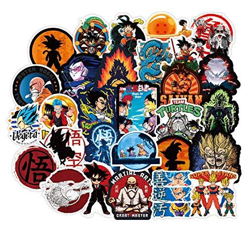 Pegatina impermeable con diseño de Dragon Ball Personality Cartoon Anime para maletas de equipaje, protector solar para coche eléctrico, 100 unidades