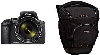 Nikon Coolpix P900 - Cámara compacta de 16 MP (Pantalla de 3 Zoom óptico 83x estabilizador óptico grabación de vídeo Full HD) Negro & AmazonBasics - Funda para cámara de fotos réflex color negro