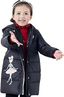 ダウンジャケット キッズ ダウンコート 女の子 高品質 ガールズ 防寒コート アウター 通学 キッズ 子供服 ダウン コート フード付き カワイイ 刺繍