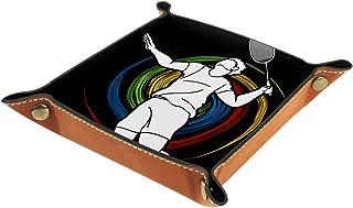 Vockgeng Badminton Sportif Boîte de Rangement Panier Organisateur de Bureau Plateau décoratif approprié pour Bureau à Domi...