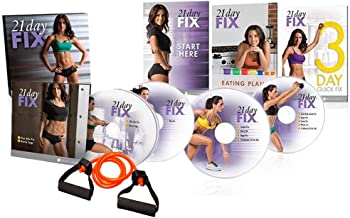 TVAT 21 Day Fix Workouts DVDs,Lose Weight &Cardio Sports &Burn Calories with Resistance Band Tool…