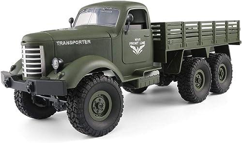 almacén al por mayor Ocamo Modelo de Carro de de de Juguete 1 16 2.4G 6WD Vehículo Militar RC Sobre orugas de Camiones Todo Terreno verde  Tu satisfacción es nuestro objetivo