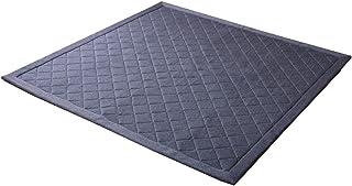 イケヒコ ラグ カーペット 3畳 デニム調 ニットキルトラグ 『アルバ2IT』 ブルー 約190×240cm ホットカーペット対応 ♯9810814