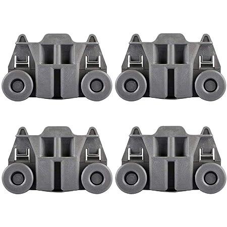 W10195417 Dishwasher Wheels Lower Rack compatible kenmore whirlpool kitchen aid,4PCS Dishwasher Premium Wheels Replaces Dish Rack Part Number AP4538395 AH2579553 EA2579553 PS2579553,WPW10195417