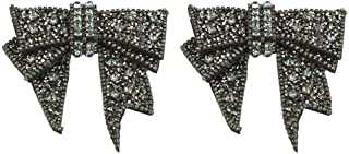 HEEPDD 2Pcs DIY Rhinestones Bowknot Patches Clothes Bags Sewing Appliques for Flats High Heels Shoes Decoration