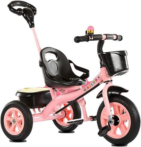STOCKAGE VéLo Tricycle pour Enfants pour Enfants aGéS De 2-3-6 Ans VéLo pour Enfants Trolley pour Enfants Cadeau pour Enfants,rose