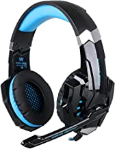 ÁpexTech KOTION EACH G9000 3,5 mm KOTION deindesign Gaming Headset Auriculares estéreo con micrófono luz LED para PlayStation 4 Tablet PC teléfonos móviles mediante(Negro+Azul)