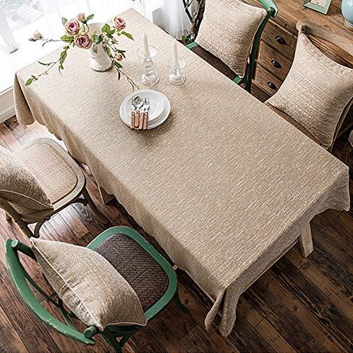 modo contratto di cotone fresco tovaglie di stoffa albergo tovaglia aggiornata versione di ispessimento carta da parati tinta unita,Khaki, 135 * 230cm