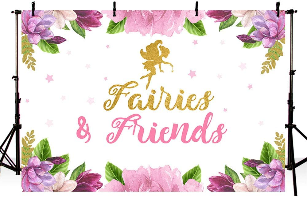 Mehofond Butterfly Fairies Super sale period limited Latest item Friend Backdrop Birthday Decoration
