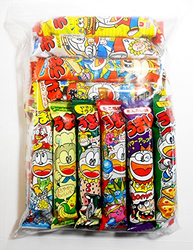 Umaibo Japanese Corn Puffed Snacks Variety Pack 10 Flavors