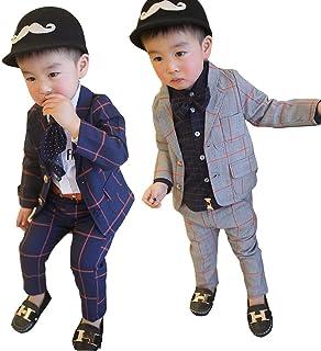男の子 フォーマル スーツ キッズ ベスト タキシード 入学式 卒業式 発表会 入学式 入園式 結婚式 (110, ネイビー)