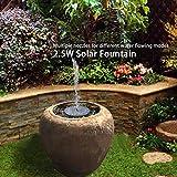 Fybida Bomba de Fuente de Fuente Solar de energía Solar 6V 2.5W para la decoración del Paisaje de Parques acuáticos