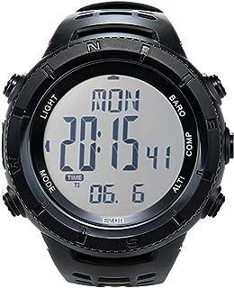 Reloj Deportivo Digital para Hombres para Senderismo al Aire Libre con brújula Altímetro Barómetro Termómetro Reloj Milita...