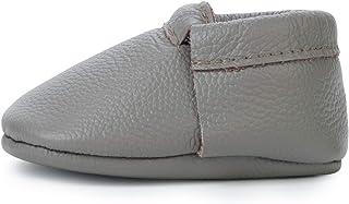 流苏真皮婴儿软帮鞋 - 男女童鞋适合婴儿、婴儿、幼儿